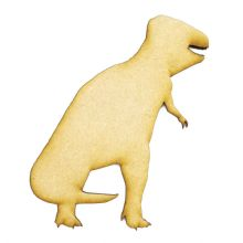 3mm MDF Wood Laser Cut Craft Shapes - Tyrannosaurus Rex